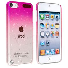 Insten Hot Pink Clear 3D Waterdrop Hard Snap-on Glossy Case Cover For Apple iPod Touch 5th/ 6th Gen | Overstock.com Shopping - The Best Deals on Ipod Cases