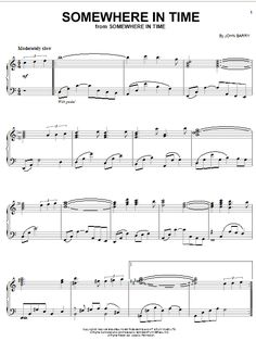 Somewhere In Time | Sheet Music Direct