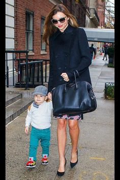 """Miranda Kerr and her son Flynn were out and about in New York on December 7. And what does a supermodel give her 22-month-old son for Christmas? Kerr recently told Hollywood Life, """"The other day we went to playgroup and he ran straight to the piano. It's this little piano and he started playing it. And so I think maybe for Christmas I might get him a little piano. He really loved it."""""""