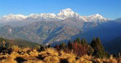 Ghorepani trek in Nepal, view from poon hill