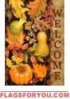 Welcome Harvest Garden Flag Fall Garden Flag, Autumn Garden, Garden Flags, Harvest Garden, House Flags, Thanksgiving, Decor, Decorating, Dekoration