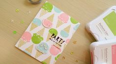 Ice Cream Party Invitations (Ft. Close To My Heart) using the Carnival Fun stamp set and die cut