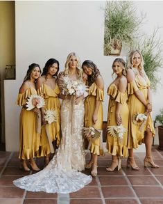 1958423e439 8 Best Mustard Bridesmaid Dresses images