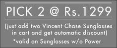 Shop online for Vincent Chase VC 3943 Matte Black Maroon Grey C3 Sunglasses @ Rs.1299