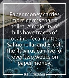 e coli on money