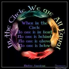 In the circle we are all equal