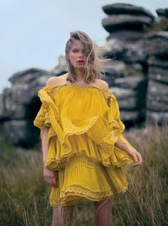 Taking a trip through the England's Wistman's Woods, model Caroline Brasch Nielsen appears in the May 2017 issue of Harper's Bazaar UK. Photographed by Alexandra Sophie, the Danish beauty wears some of spring's most dreamy styles. From airy dresses to lightweight separates, Caroline is an ethereal vision. Stylist Charlie Harrington selects the designs of Chanel, …
