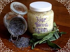 Four Thieves Sauerkraut - With Lavender, Sage, Rosemary and Thyme.