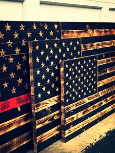 All flags are hand made to order which gives each flag a unique characteristic. No two flags will be the exact same! Each stripe is its own piece of wood which is cut to length and charred with an open flame to provide a rustic feel. The engraved stars option gives the flags a beautiful look that would look great The 3D stars option gives the flag dimension. The union is recessed and the stars are raised to give the flag an incredible unique look. This option is available for the Medium, and…