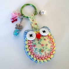 This Crochet Owl Keychain has an extra dash of whimsy with a gingham belly and a removable butterfly charm by NirvanaDesigns, $20.00