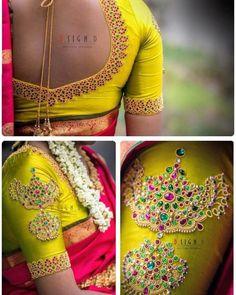 Blouse Designs For Wedding Silk Sarees