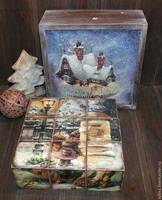 """Купить Кубики """"Волшебство приходит в дом"""" - комбинированный, кубики, кубики деревянные, кубики интерьерные"""
