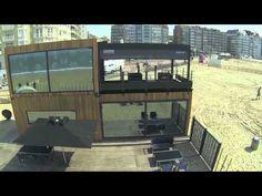 Tender2 Pop-Up Hotel by Royal Botania at Knokke beach (Belgium)