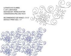 Flurries Pantograph by Lisa Calle   LCPANTO010