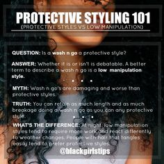 Black Girls Tips — Protective Styling vs Low Manipulation Styles...