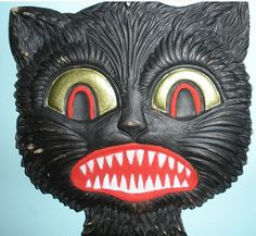 Black as night - Serious scary black cat mask - #Scary #halloween #masks - Click Pic for More Ideas