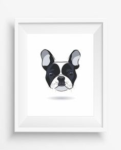 French bulldog head,French bulldog print,Cute Dog Print,Puppy,Puppy watercolor,Pet Decor,digital Prints,instant Download,home decor,