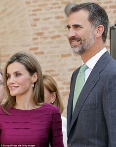 In good favour: Letizia has become increasingly popular since ascending to the throne in June, making regular appearances in support of children's and disability charities