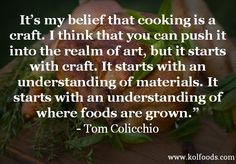 Cooking as a craft quote
