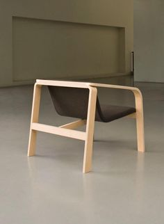 Plywood chair which can be located in both outside and inside the house