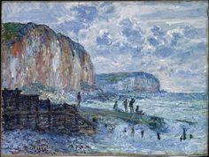 Claude Monet (French,  1840-1926): Cliffs of the Petites Dalles, 1880.