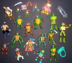Teenage Mutant Ninja Turtles Toys Action Figure LOT 1988 1990 2000 Accessories
