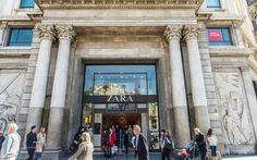 Zara flagship store Passeig de Gracia in Barcelona