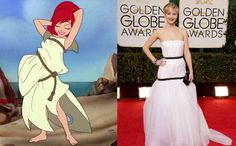 Jennifer Lawrence, su vestido y el meme que recorre el mundo - Yahoo Mujer Argentina
