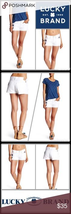 """JUST IN 🆕 """"THE CUT OFF"""" EMBROIDERED SHORTS Playful and classic, denim cutoffs are sweetened up with vintage-inspired embroidery. They feature classic 5-pocket styling, a zipper fly closure and a raw cut hem. These shorts are the epitome of California cool. ▪️FIT: Mid-rise ▪️Front rise: 9"""" Back rise: 13"""" Inseam: 3"""" Leg opening: 24.25""""  🛍 2+ BUNDLE=SAVE  🚫TRADE  💯 Brand Authentic  ✈️ Ship Same Day--Purchase By 2PM PST  🖲 USE BLUE OFFER BUTTON TO NEGOTIATE   ✔️ Ask Questions Not Answered…"""