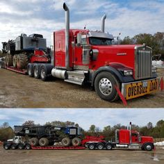 truckingworldwide2:Kenworth custom W900L heavy haul with a...