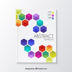 Templates graphique - Abstract brochure with colorful hexagons Free Vector in Templates By freepik Free Images For Blogs, Hexagon Vector, Cover Page Template, Abstract Template, Yearbook Covers, Calendar Organization, Yearbook Design, Custom Flyers, Brochure Layout
