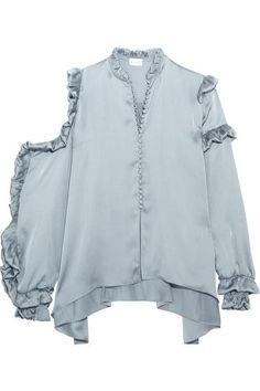 Magda Butrym   Lecce cutout ruffled silk-satin blouse   NET-A-PORTER.COM