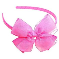 Baby Girl Accessory HAIRBAND HOT PINK Hair Bow, (hair bows, baby accessories, bows, hair accessories, hair bow, headband, baby, baby hair, crochet, flowers)
