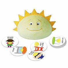 Hello Sunshine!Last year, ThinkFun introduced Roll & Play, its first game for toddlers to help them identify emotions, body parts, colors, and more. This year, the company has created a follow-up hide-and-seek game to teach positional (or prepositional) concepts.