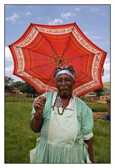Under a Red Umbrella, KwaZulu-Natal | South Africa (by Wanda 1 on TrekEarth)