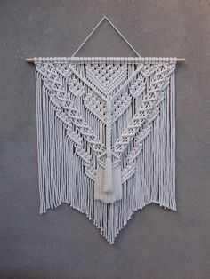 Macrame wall hangings, boho home decor Large Tapestries, Tapestry, Bedroom Wall, White Bedroom, Large Macrame Wall Hanging, Rooms Home Decor, Cotton Rope, Wall Decor, Wall Art