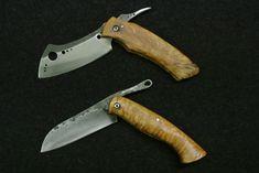 folding manta knife, and sheepfoot friction folder
