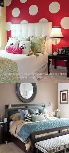 King-Bed-Pillow-Arrangment-2 | Flickr - Photo Sharing!