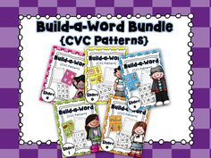 Build CVC words with this fun, hands-on bundle!  Units included in this bundle:  short a, short e, short i, short o, short u