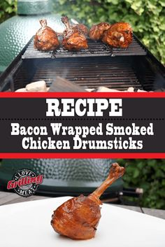 These smoked chicken drumsticks are a fun snack/appetizer you can smoke alongside other projects. Smoke Chicken Wings Recipe, Smoked Chicken Wings, Bacon Wrapped Chicken, Chicken Drumsticks, Beef Ribs Recipe, Beef Brisket Recipes, Rib Recipes, Chicken Drumstick Recipes, Chicken Wing Recipes