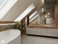 Small Attic Bathroom, Loft Bathroom, Bathroom Layout, Bathroom Interior, Bad Inspiration, Bathroom Inspiration, Style At Home, Home Room Design, House Design