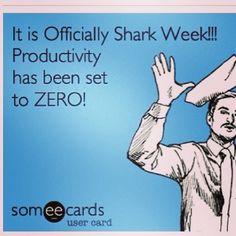 Yeah shark week!