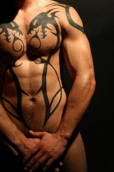 Immodest homosexuals in tats threeway bone