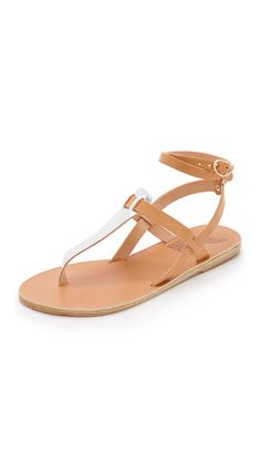 Ancient Greek Sandals Estia Thong Sandals - Natural/Silver | SHOPBOP.COM saved by #ShoppingIS