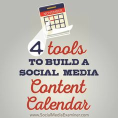 Do you struggle to keep track of your social media content?  Creating a social media content calendar doesnt need to be complicated or require a whole new platform.  In this article youll find four ways to build a social media content calendar with tools you may already use.  Click the link in our profile to read the entire article! by smexaminer