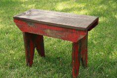 Primitive Bench, Farmhouse Bench, Rustic bench, Milking Stool, Primitive Stool #RusticPrimitive