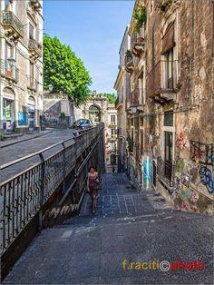 Scalinata di raccordo tra via Penninello e via Crociferi e villa Cerami, Catania Sicily