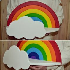 Полка-радуга - волшебный декор для детской комнаты