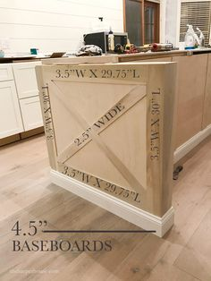 farmhouse kitchen decor Building custom kitchen island trim doesn't have to be hard or expensive. Tips for adding diy kitchen details to help your budget friendly kitchen remodel. Kitchen Island Trim, Farmhouse Kitchen Island, Diy Kitchen Cabinets, New Kitchen, Kitchen Islands, Kitchen Ideas, 1960s Kitchen, Kitchen Modern, Kitchen Decor