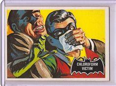 Topps Batman card, art by Norman Saunders: Chloroform Victim (Robin)